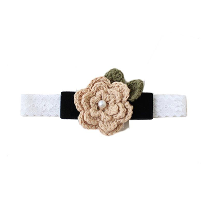 Madison Tots Crochet Flower Headband Jepit Rambut