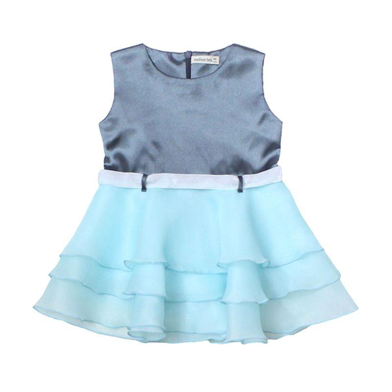 Madison Tots Satin Organza Mint Dress Anak