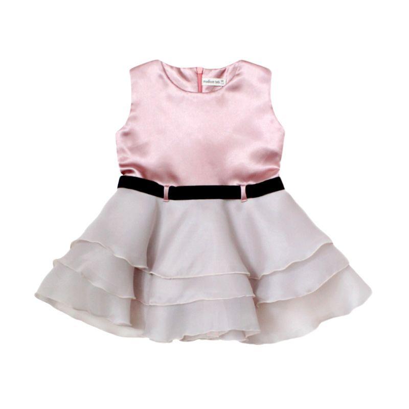 Madison Tots Satin Organza Peony Dress Anak