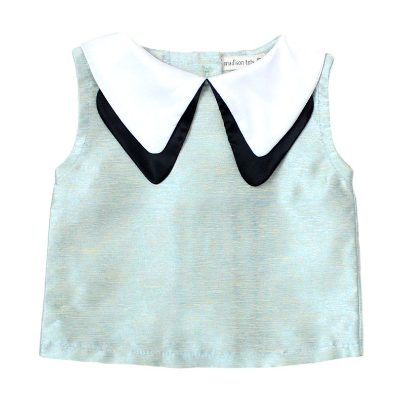 Madison Tots Textured Top with Collar Atasan Anak Perempuan