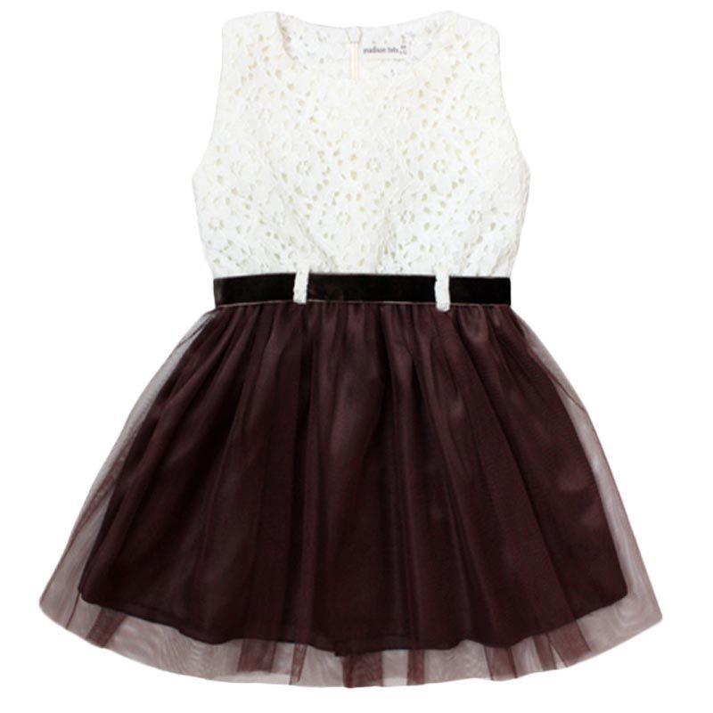 Madison Tots Tulle Cream Dress Anak