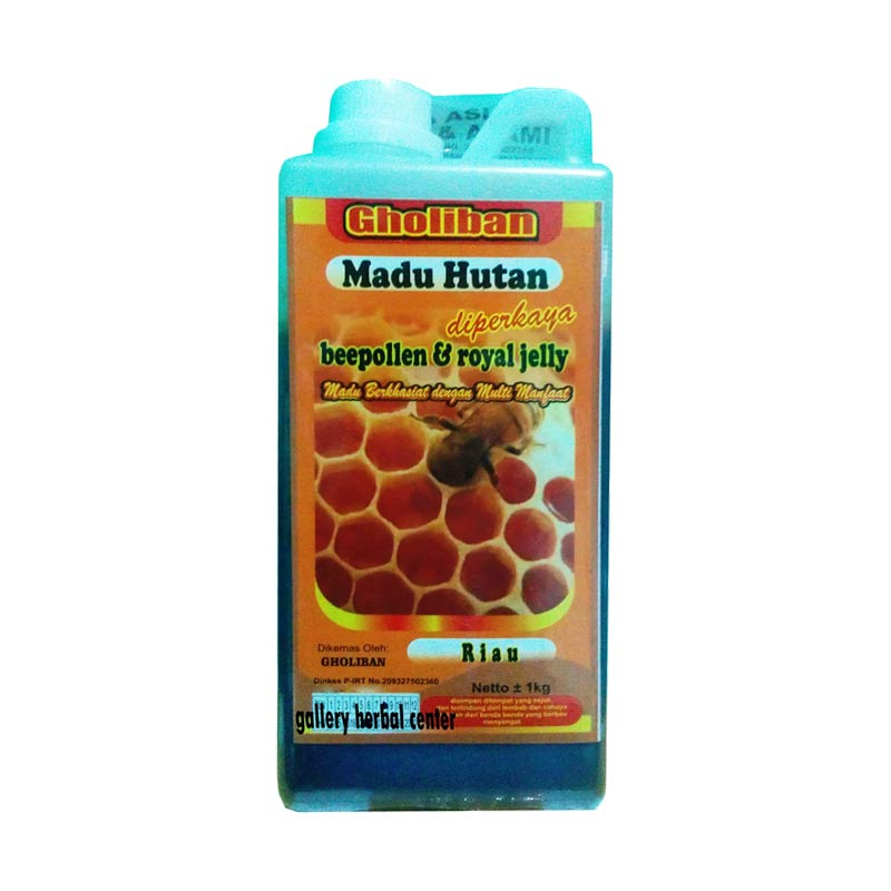Madu Gholiban Hutan Riau Plus Bee Pollen Royal Jelly Madu Murni [1 kg]