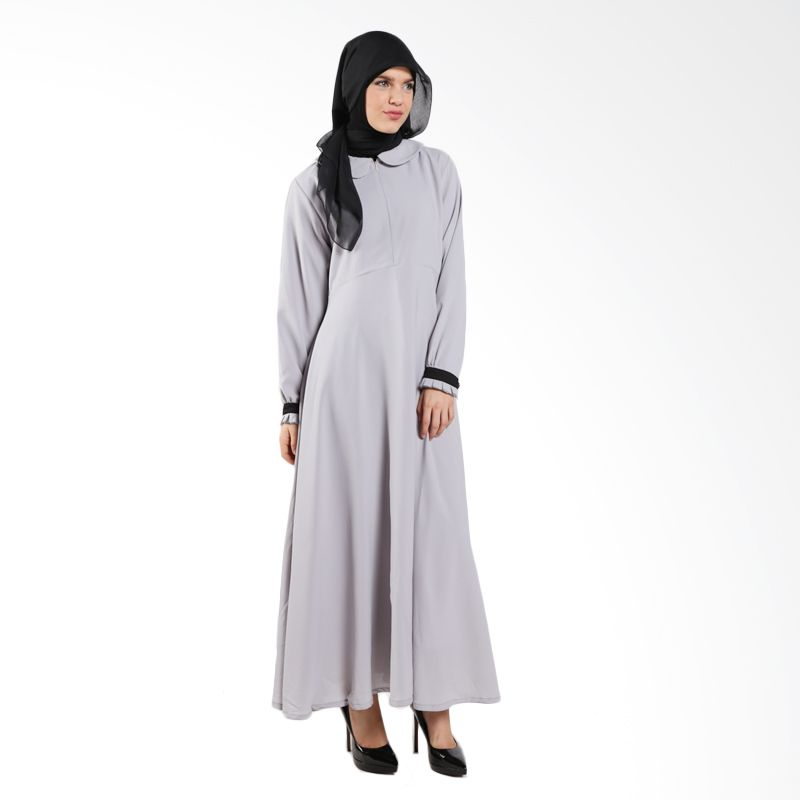MAE INDONESIA Hanina HN 03 Light Grey Dress Muslim