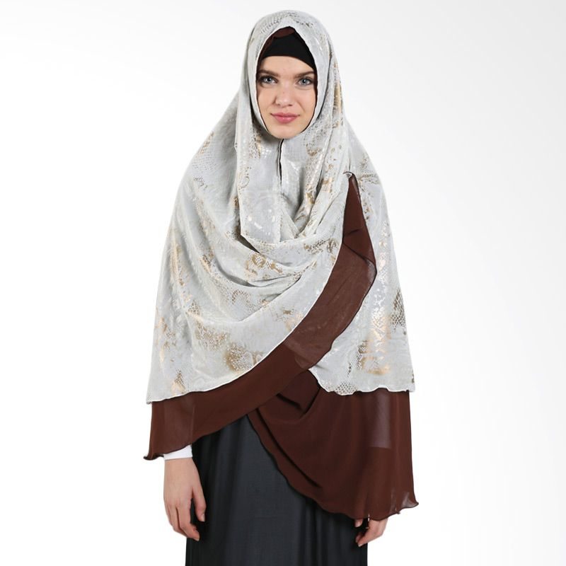 MAE INDONESIA Syafeea Non Pet Khimar SY R 001 Brown Gold Hijab
