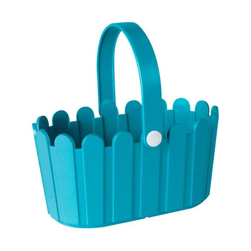 EMSA Landhaus Basket Turquoise Pot Tanaman [28 Cm]