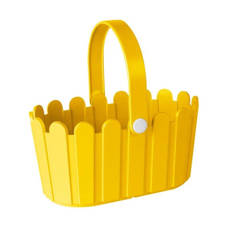 EMSA Landhaus Basket Yellow Pot Tanaman [28 Cm]