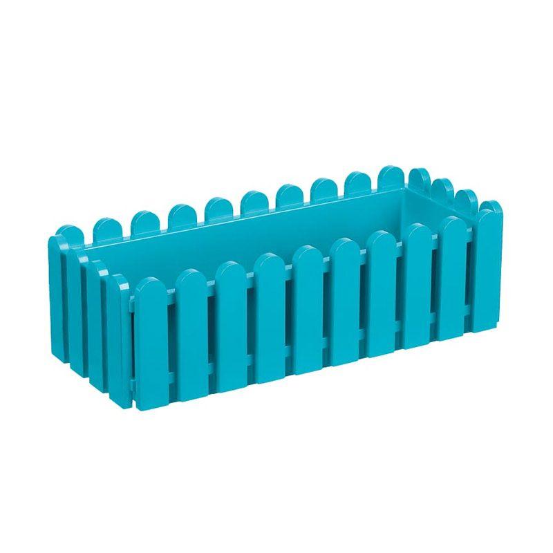 EMSA Landhaus Window Box Turquoise Pot Tanaman [50 Cm]