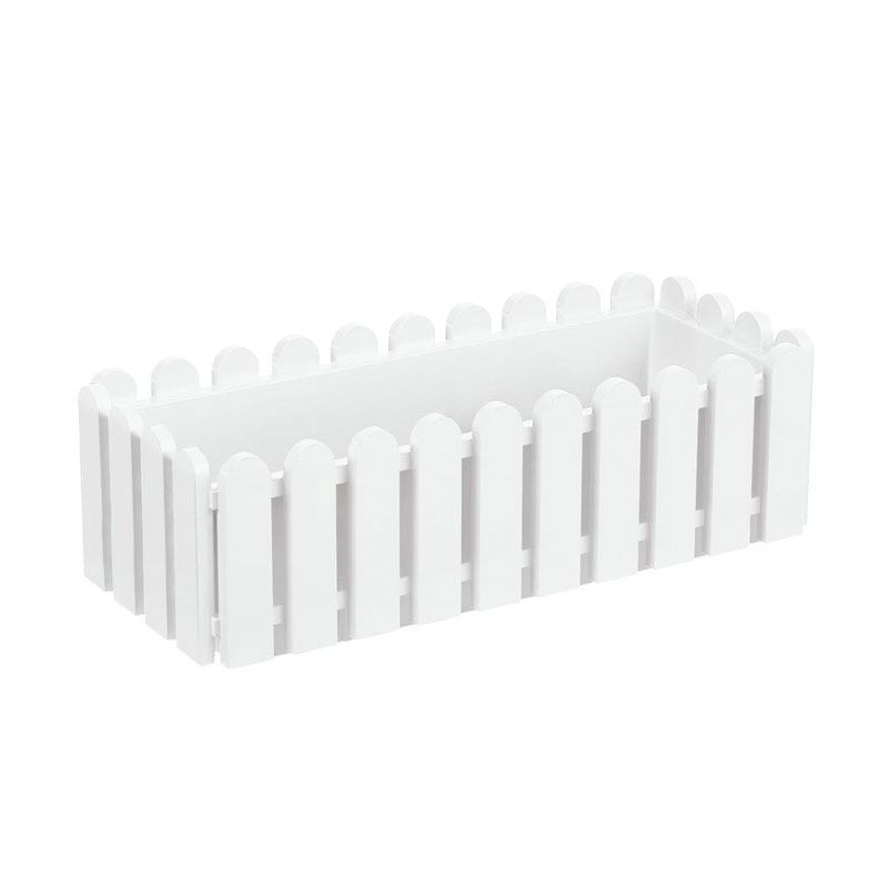 EMSA Landhaus Window Box White Pot Tanaman [50 Cm]