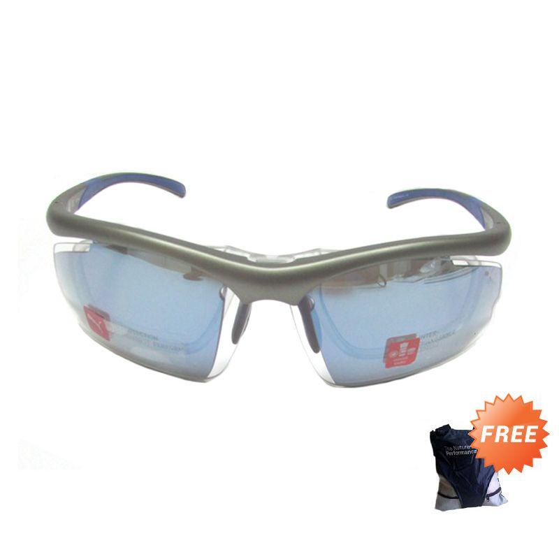Puma Sport PU 15191 GU Gunmetal Sunglasses + Sling Bag