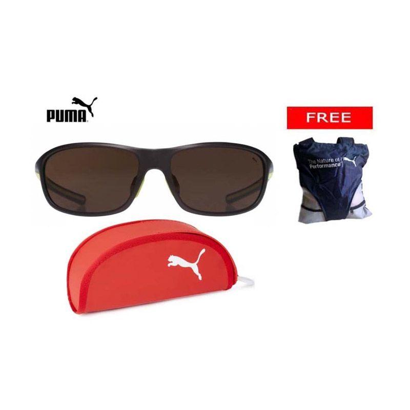 Puma Sport Sunglasses 15175 Brown + Free Puma Sling Bag