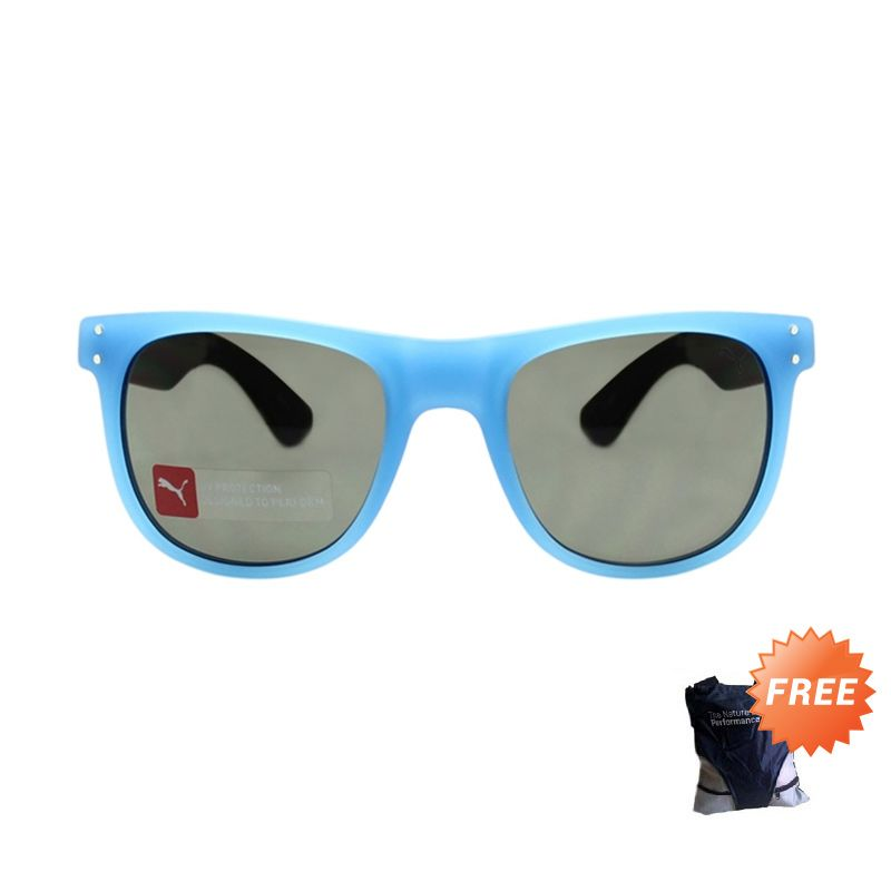 Puma Wayfarer PU 15166 BL Blue Black Sunglasses