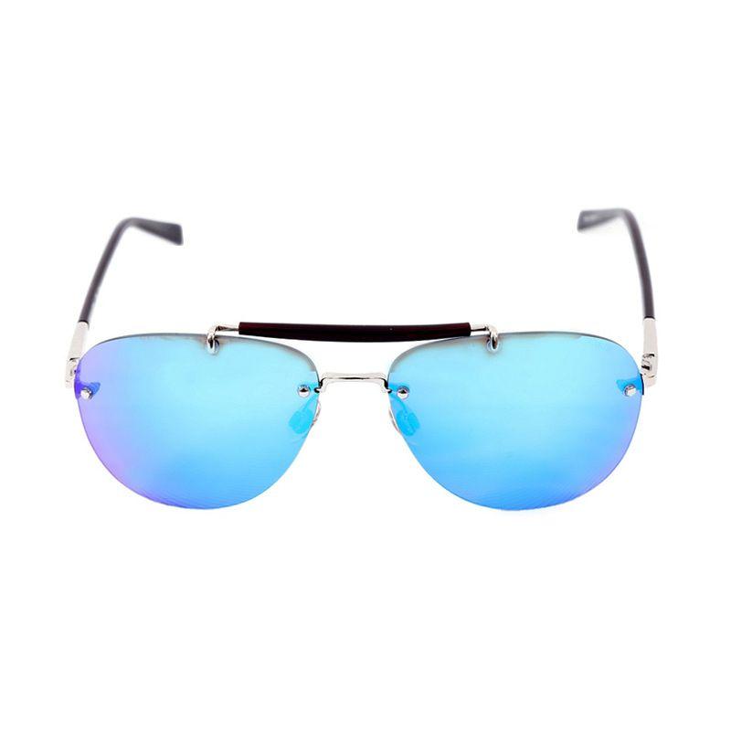 Trussardi Aviator TR 12941 SI Silver Sunglasses