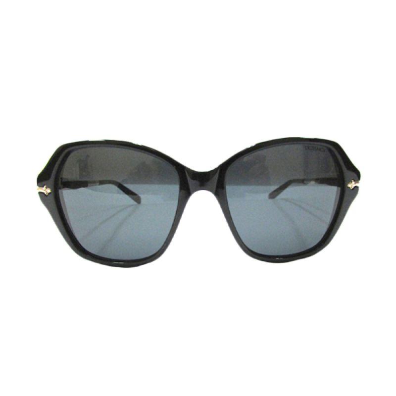 Trussardi Square TR 12875 BK Black Sunglasses