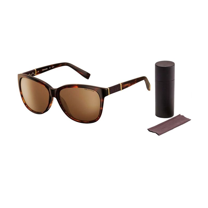 Trussardi Sunglasses 12843 Dark Brown