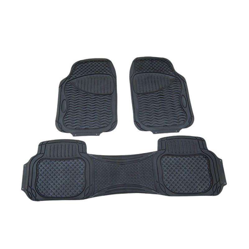 Monster PVC 3PBKD7 Black Karpet Mobil [3 Pcs]