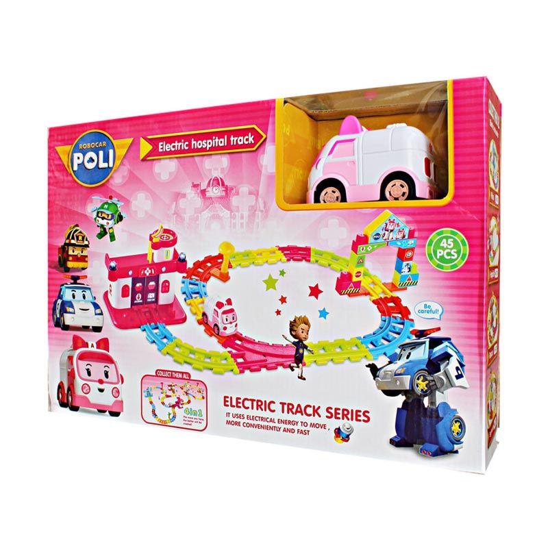 MAO Robocar Poli Rail Track Pink Mainan Anak