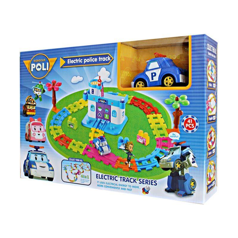 MAO Robocar Police Rail Track Biru Mainan Anak