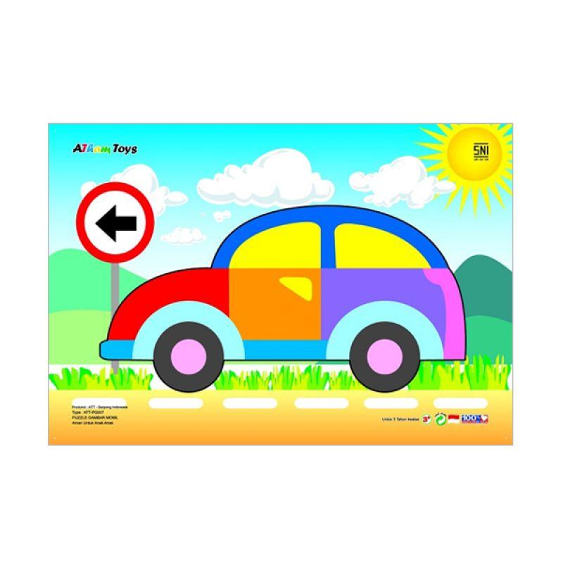 Kidzntoys Puzzle Gambar Mobil Mainan Edukasi Anak