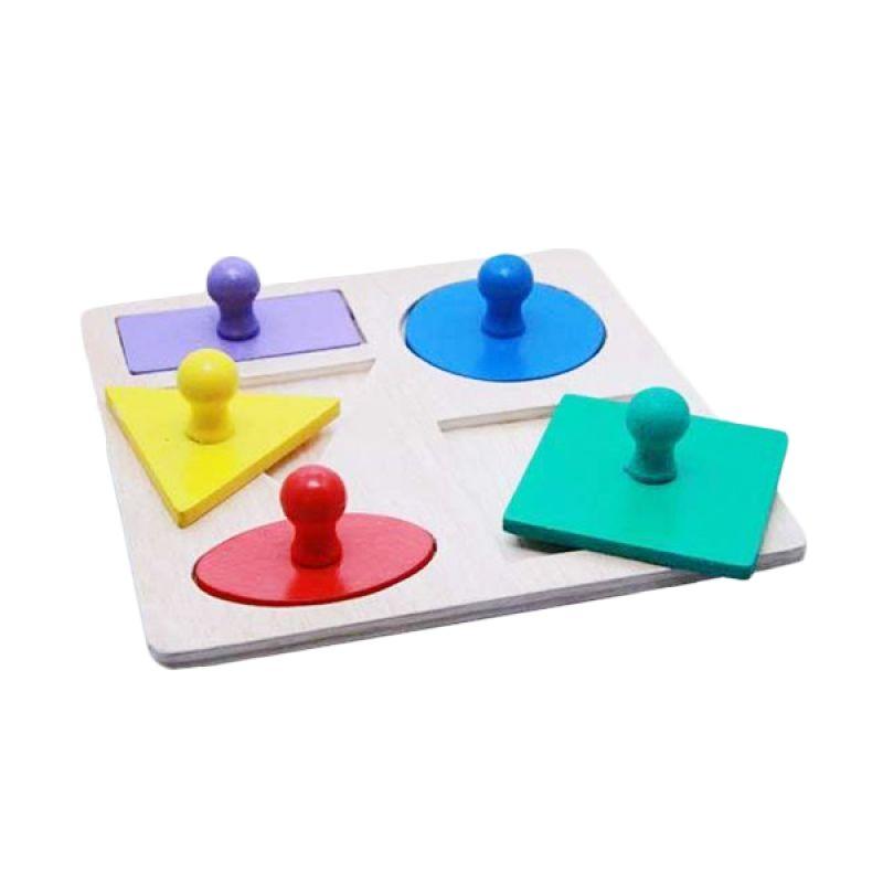 Kidzntoys Puzzle Geo Baby Knop Mainan Edukasi Anak