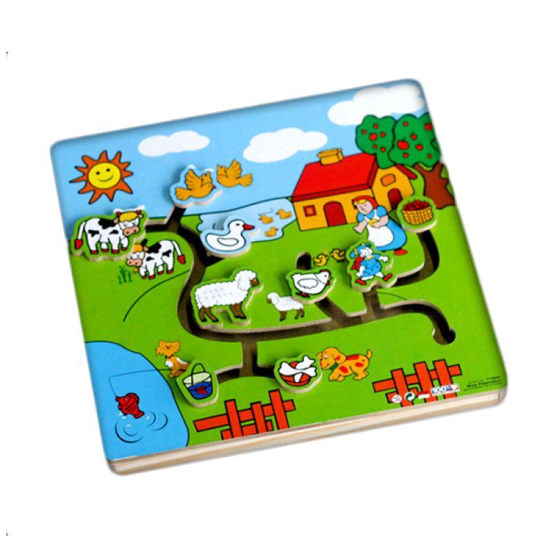 Kidzntoys Maze Peternakan Mainan Edukasi Anak