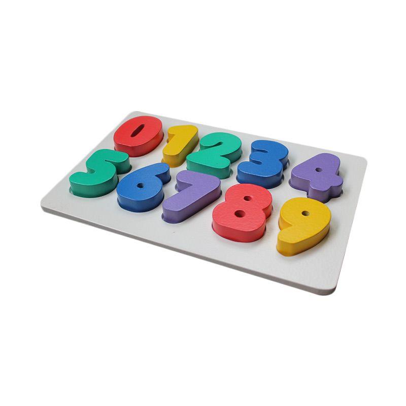 Kidzntoys Puzzle Chunky Angka 0-9 Mainan Edukasi Anak