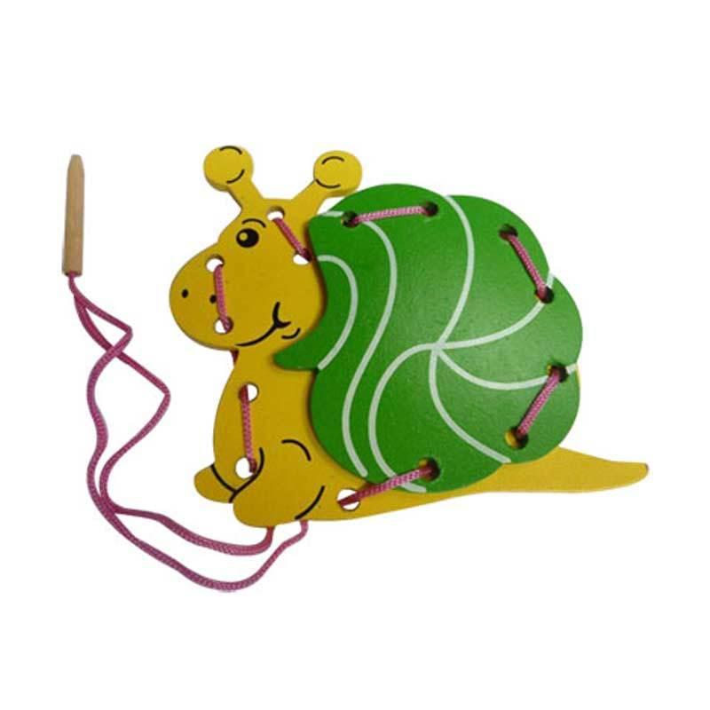 Mainan Edukasi Papan Jahit 3D Siput Mainan Anak