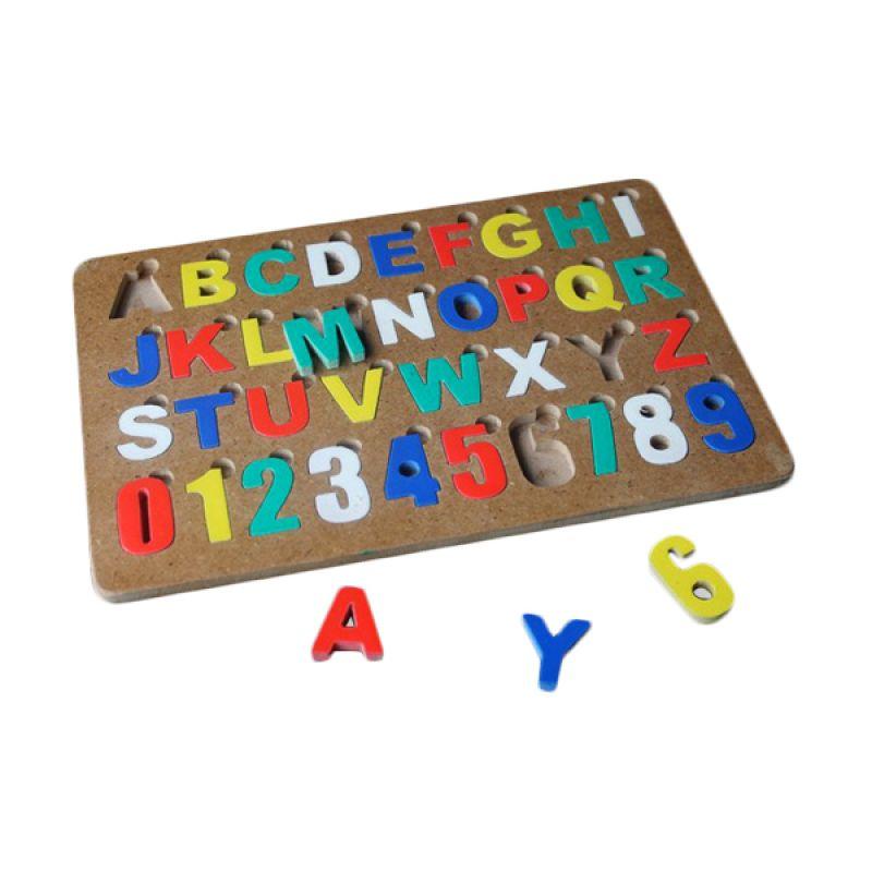 Mainan Edukasi Puzzle Alphabet Angka Mainan Anak