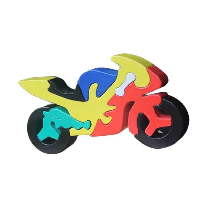 Mainan Edukasi Puzzle Satuan 3D Motor Mainan Anak