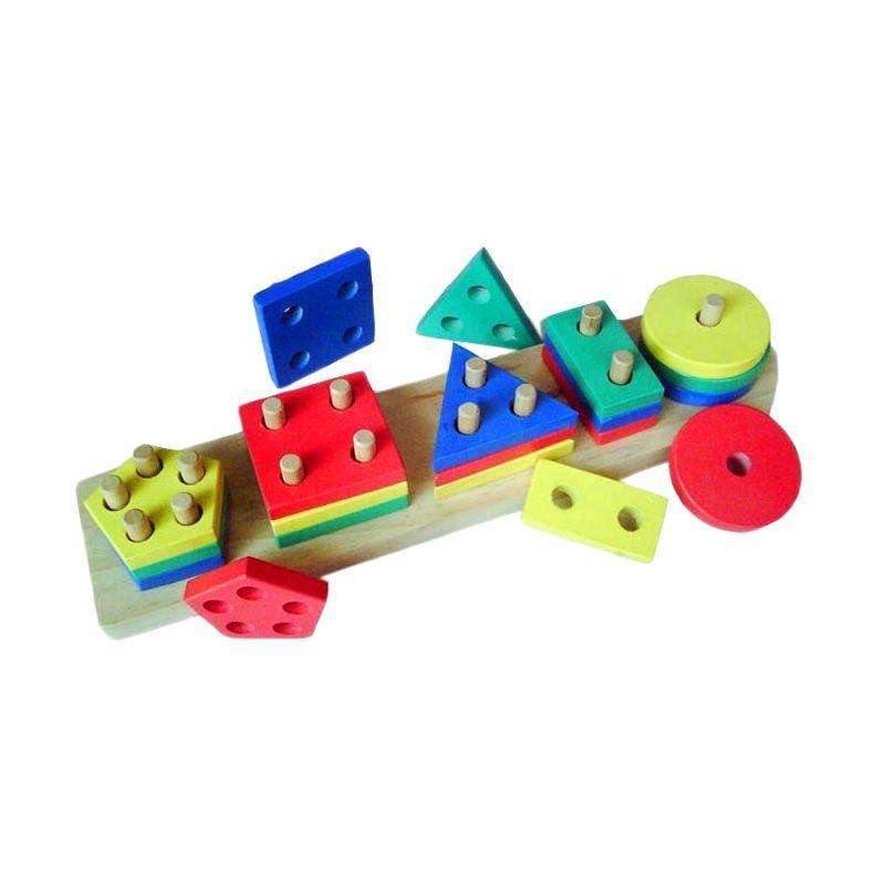 Atham Toys Geo Bentuk 5 Mainan Anak
