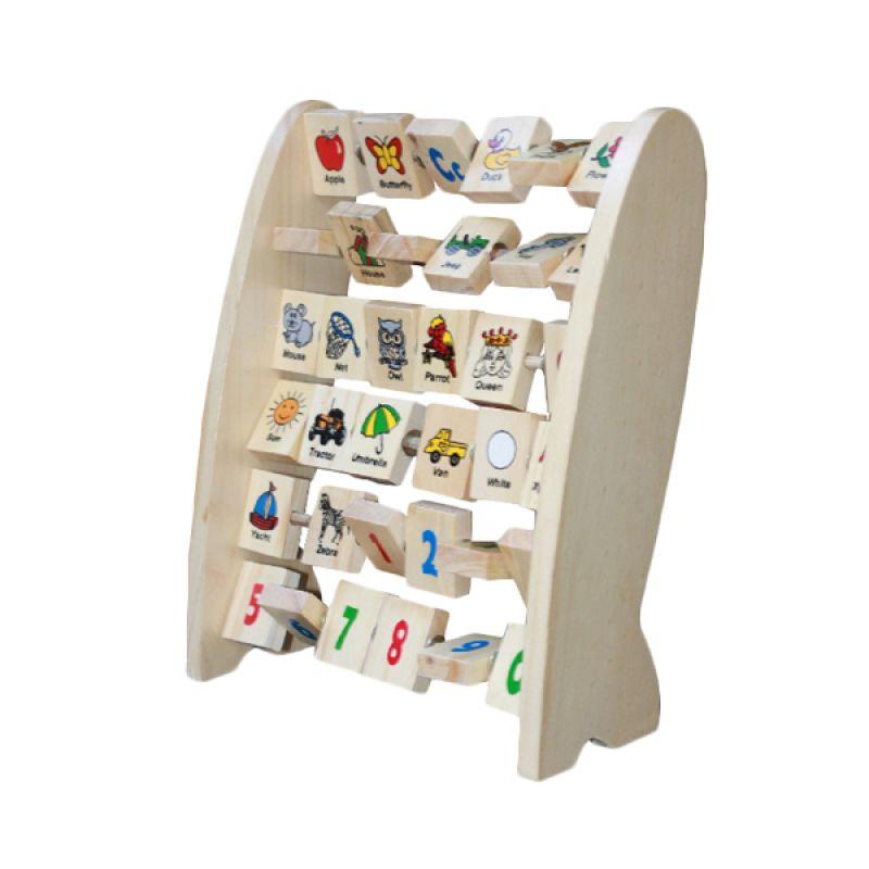 Mainan Kayu Alphabet Berdiri Inggris Mainan Anak
