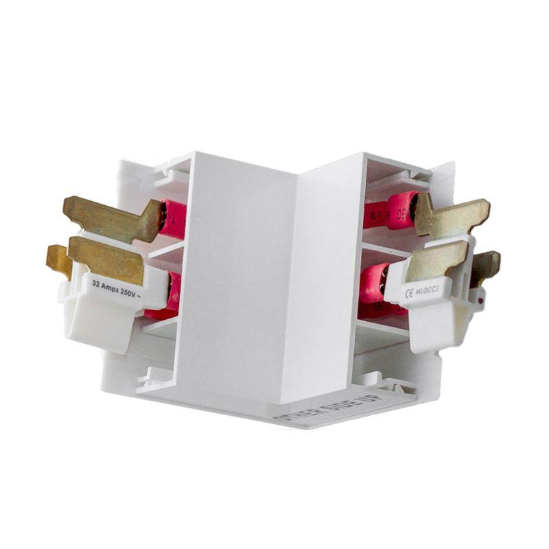 Mainline White External Corner Connector