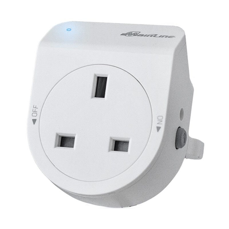 Mainline White Premium UK Socket (3 pin)