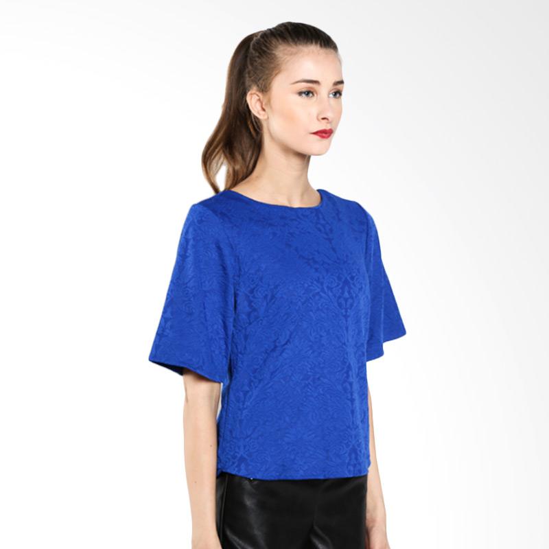 Majesty Mode B-142BL Blouse Blue Atasan Wanita