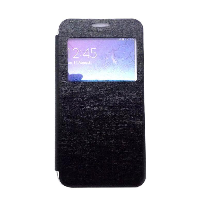 Ume Hitam Flip Cover View Casing for Samsung Galaxy E7