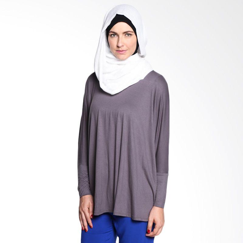 malanaINDONESIA Zhaza Top ZTA/BL/MI/9/15 Grey Atasan Muslim Wanita
