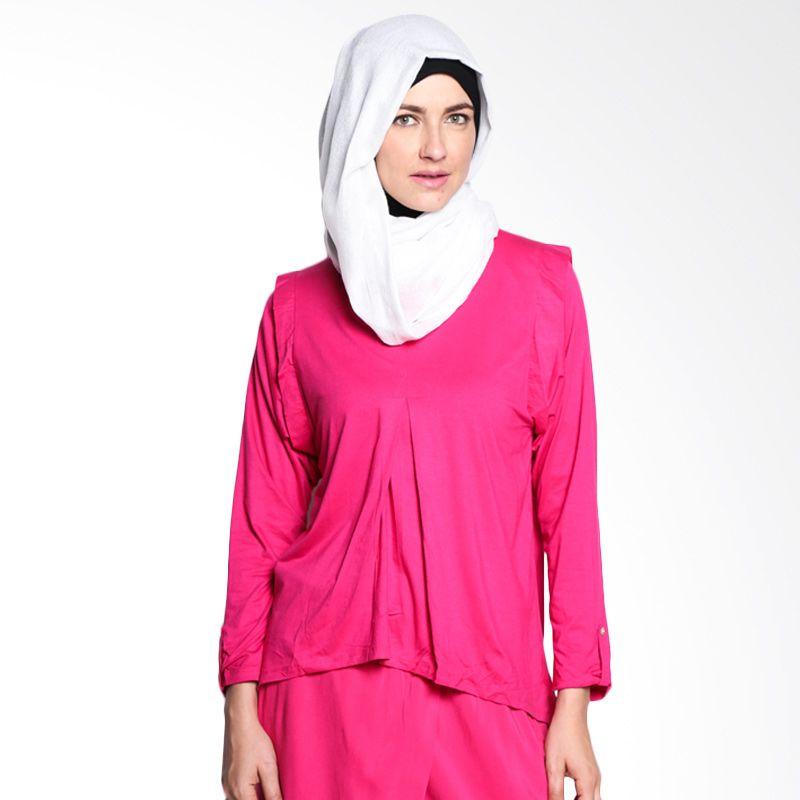 malanaINDONESIA Zhaza Top ZTP/BL/MI/9/15 Pink Atasan Muslim Wanita