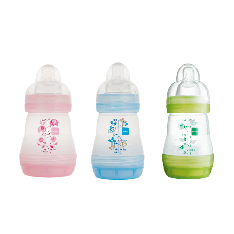 MAM Anti Colic Bottle 3 Pack Pink Blue Green Botol Susu [160 mL]