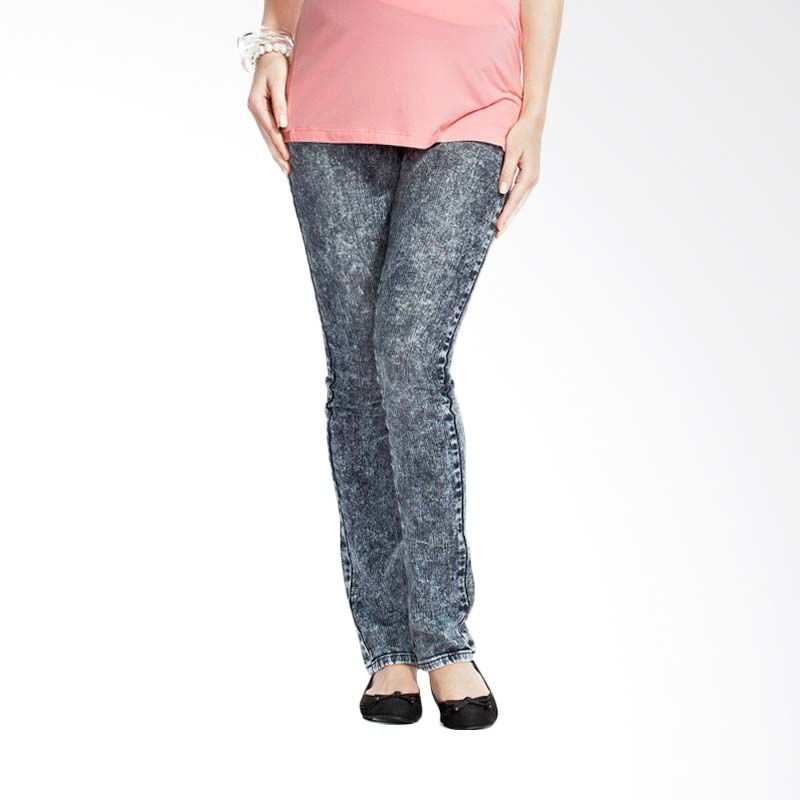 Mamaway Acid Wash Maternity Jeans Blue (S) (Blue)