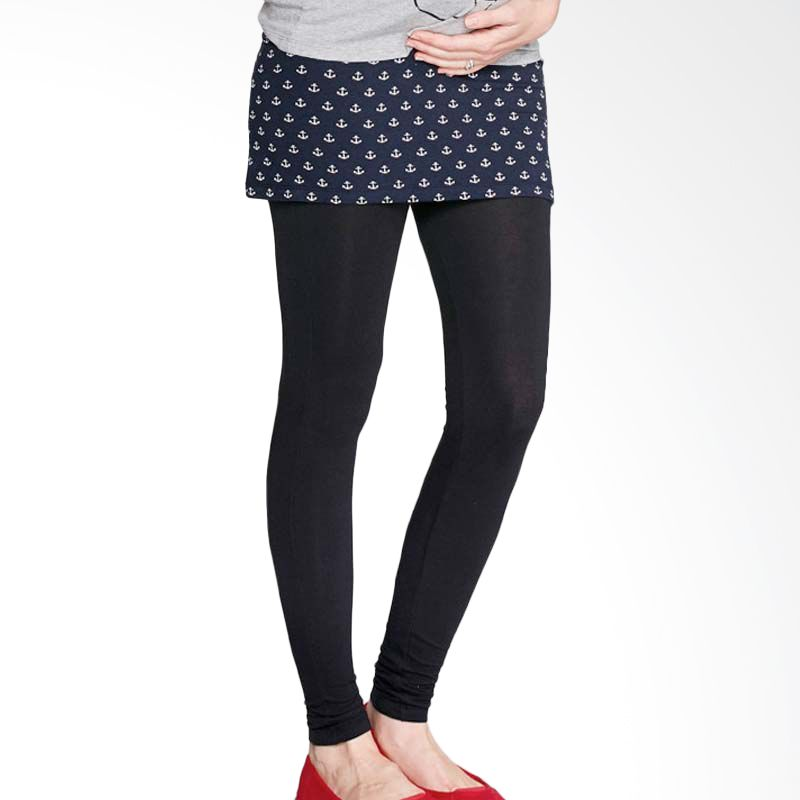 Mamaway Ankle Freezer Maternity Leggings with Skirt Navy