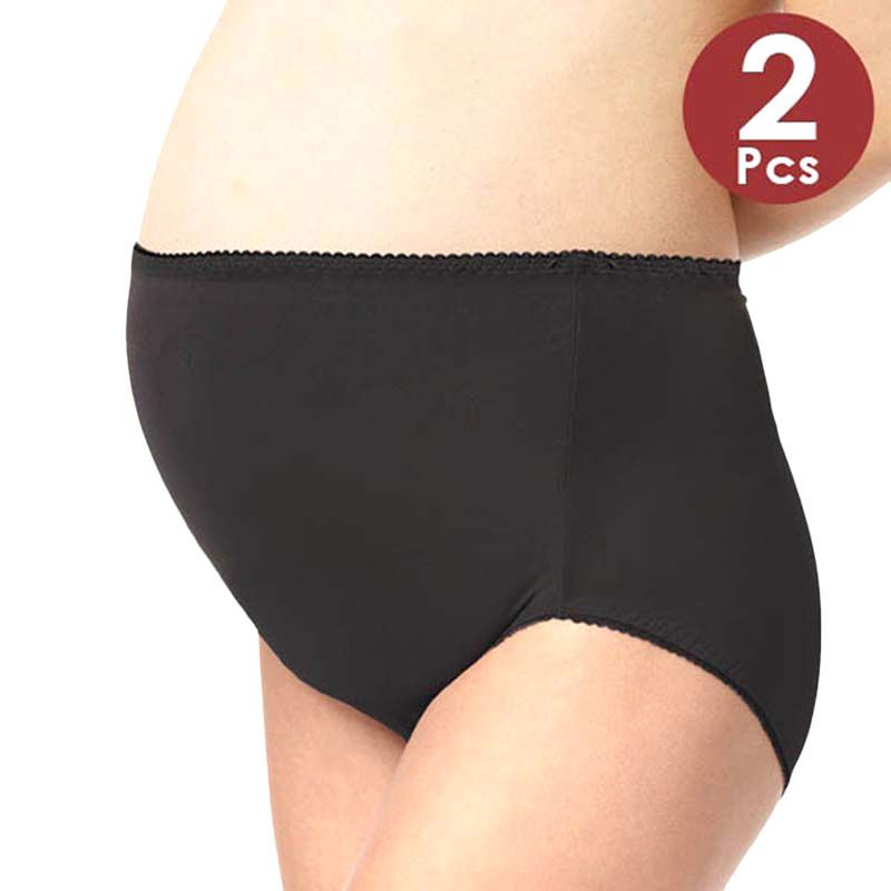 Mamaway Anti-bacterial High-cut Briefs Celana Dalam Ibu Hamil (2 pack) Black