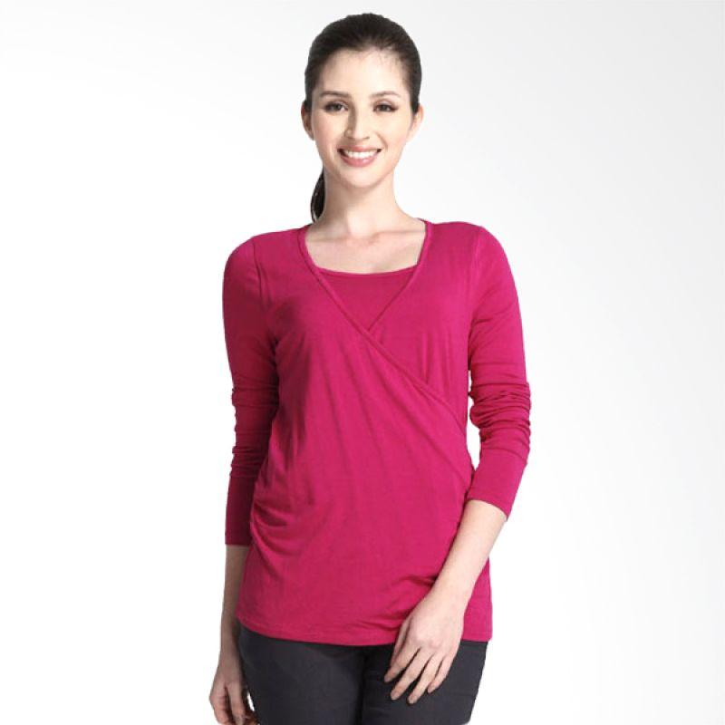 Mamaway Classic Plain Purple Baju Hamil & Menyusui