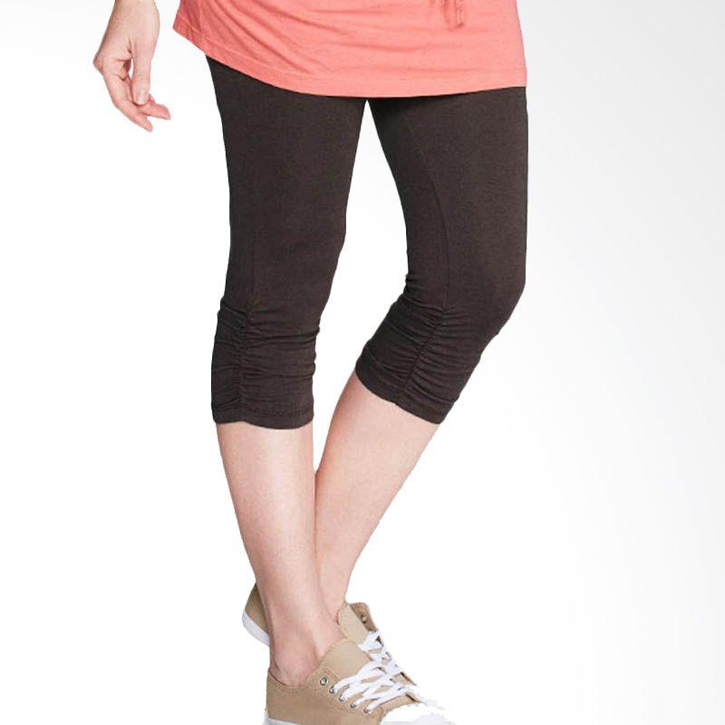 Mamaway Crinkled 3/4 Length Brown Legging Ibu Hamil