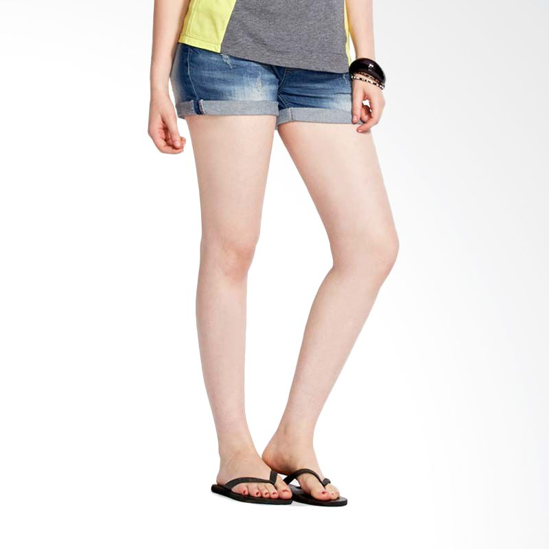 Mamaway Denim Maternity Shorts Celana Pendek Ibu Hamil Navy Blue (S) (Navy Blue)
