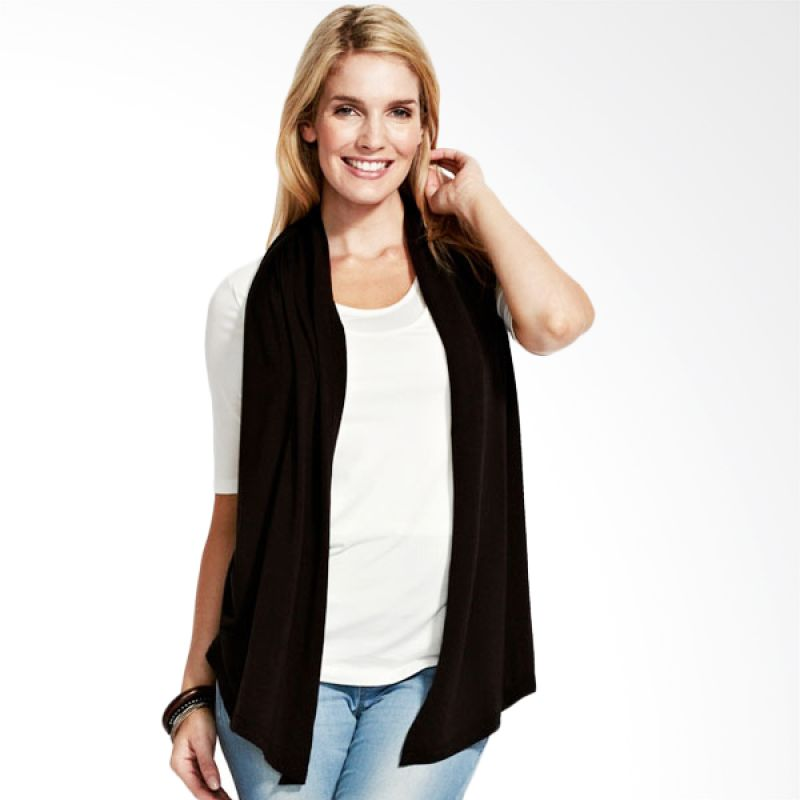 Mamaway Double Phonyscarf Maternity & Nursing Top White (L) (White)