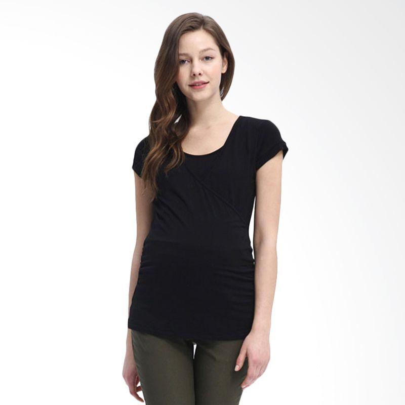 Mamaway Easy Maternity and Nursing Black Baju Hamil dan Menyusui