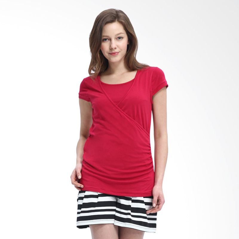 Mamaway Easy Maternity and Nursing Red Baju Hamil dan Menyusui