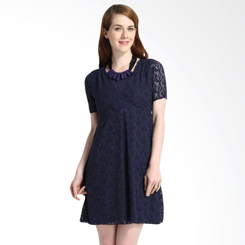 Mamaway Lace Navi Dress Hamil dan Menyusui