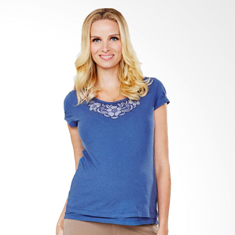 Mamaway Lace Necklace Blue Baju Hamil dan Menyusui
