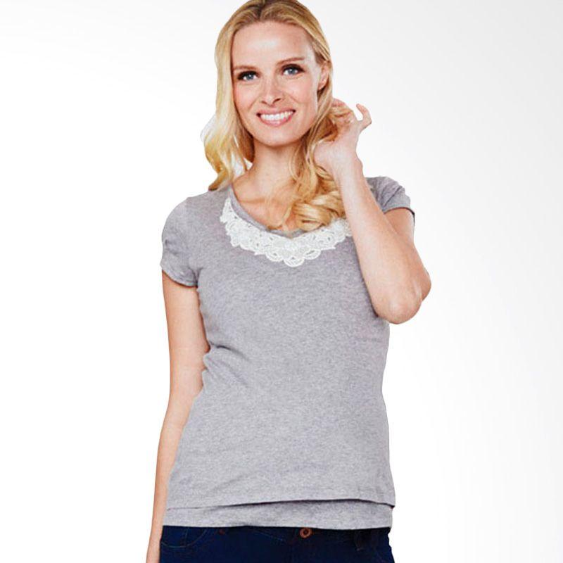 Mamaway Lace Necklace Grey Baju Hamil dan Menyusui