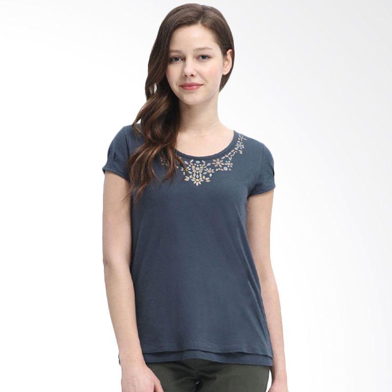 Mamaway Metallic Neckline Gray Baju Hamil dan Menyusui